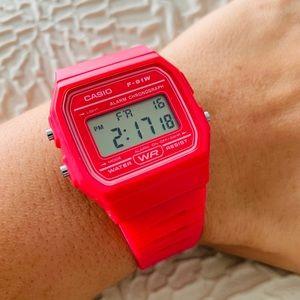 Casio Retro Casual Watch Pink